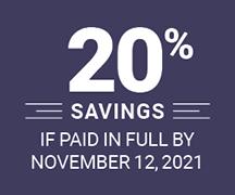 20 percent savings
